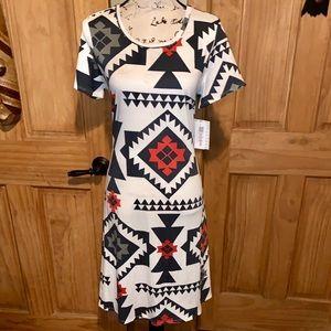NWT S LLR Multicolor Aztec Printed White Jessie